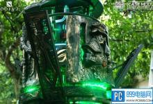 大神用木桩打造《Dota2》主题PC机箱 炫酷十足
