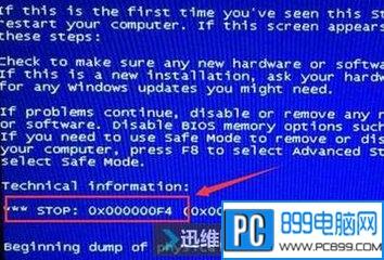 怎么处理蓝屏代码0x000000f4的问题