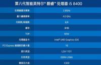 酷睿i5 8500和i5 8400哪个好 区别并不大