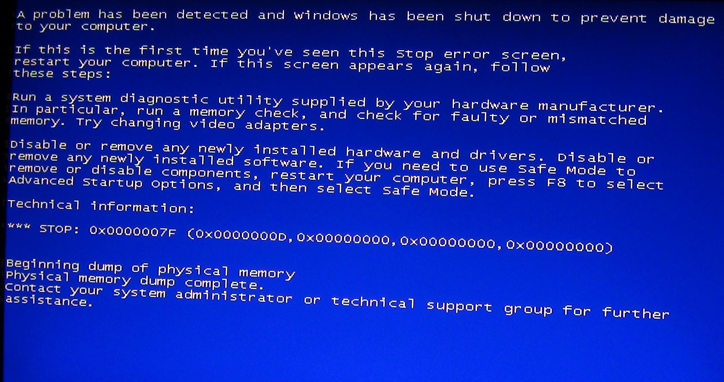 电脑蓝屏是怎么回事?电脑蓝屏代码大全